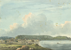 West View of the Town of St. Helier, the Hill & Harbour, Jersey